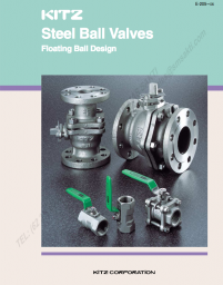 KITZ Stainless Steel / Carbon Steel Ball Valves (Floating type)