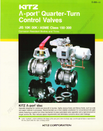KITZ Lambda Port Quarter Turn Control Valves