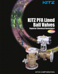 KITZ PFA Lined Ball Valves